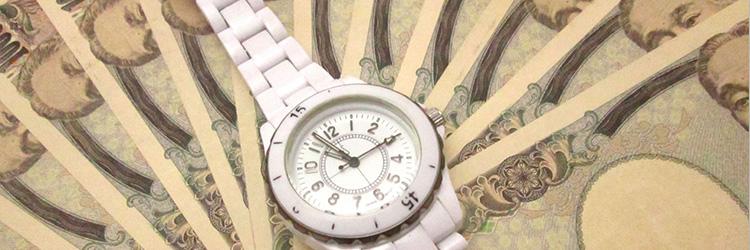 高級腕時計と大量の一万円札