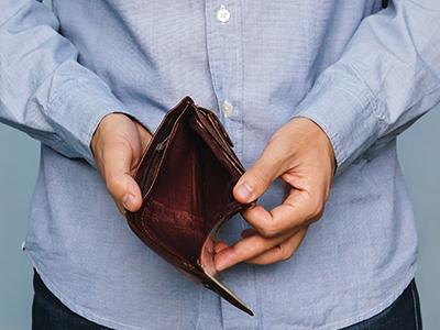 ギャンブルで財布が空に…